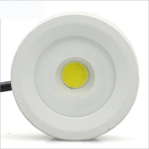 LED mini opbouwspot wit IP65 3Watt rond dimbaar