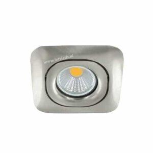 LED spot GU10 3Watt COB vierkant NIKKEL dimbaar