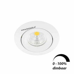 LED spot GU10 6Watt COB rond WIT dimbaar