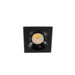 LED mini spot 4545mm 3Watt vierkant ZWART dimbaar