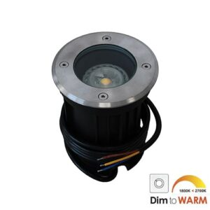 LED grondspot GU10 7Watt COB rond RVS dimbaar IP65