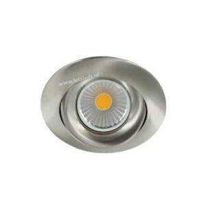 LED spot GU10 5Watt COB rond NIKKEL dimbaar