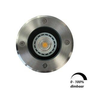 LED grondspot GU10 6Watt COB rond RVS dimbaar IP65