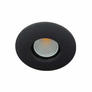 LED spot Calisto GU10 COB 5Watt rond ZWART IP65 dimbaar