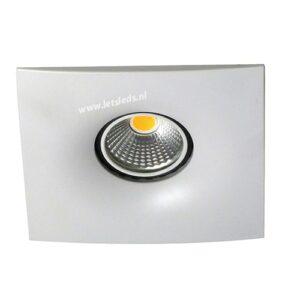 LED spot GU10 COB 3Watt vierkant WIT dimbaar