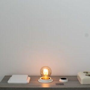LED kooldraad E27 3Watt dimbaar kogel amber