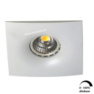 LED spot GU10 6Watt vierkant WIT dimbaar