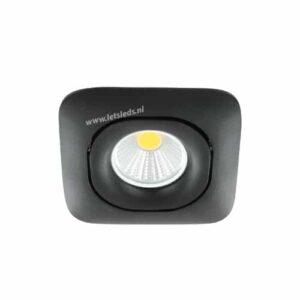 LED spot GU10 5Watt COB vierkant ZWART dimbaar