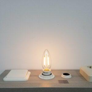LED filament E14 2Watt dimbaar kaars