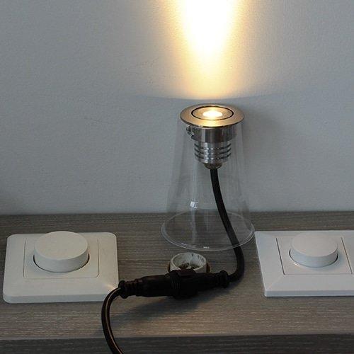 LED mini spot 50mm kantelbaar 3Watt rond RVS-304 IP68 dimbaar