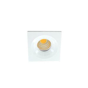 LED mini spot 4545mm 3Watt vierkant WIT dimbaar