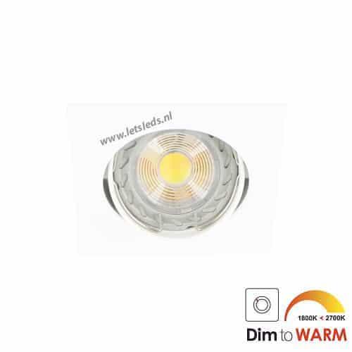 LED spot WIT kantelbaar GU10 7Watt vierkant dimbaar