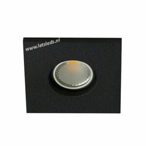 LED spot GU10 COB 3Watt vierkant ZWART IP65 dimbaar