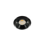 LED mini spot 48mm 3Watt rond ZWART dimbaar