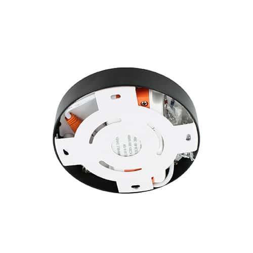 LED plafonniere 9Watt rond ZWART 220Volt dimbaar