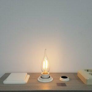 LED filament E14 2Watt dimbaar vlam