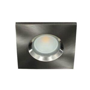 LED spot GU10 COB 5Watt vierkant NIKKEL IP65 dimbaar