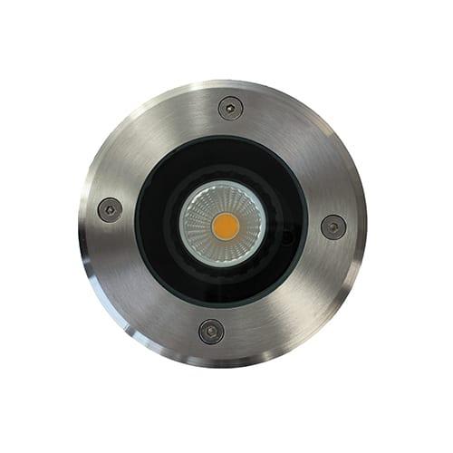 LED grondspot GU10 5Watt COB rond RVS dimbaar IP65