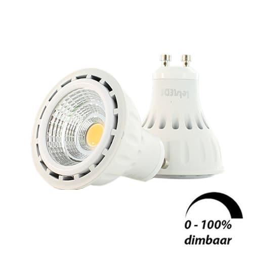 LED lamp GU10 6Watt dimbaar 220Volt 2 stuks