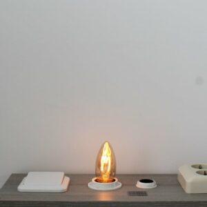 LED kooldraad E27 3Watt dimbaar kaars amber