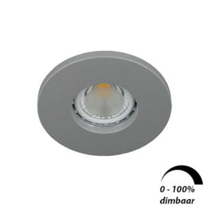 LED spot GU10 6Watt rond GRIJS IP65 dimbaar