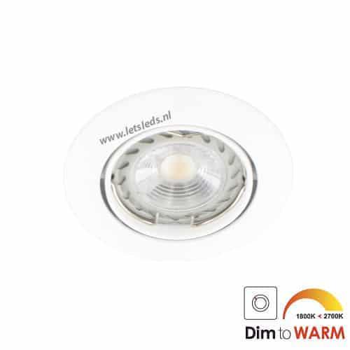 LED spot WIT kantelbaar GU10 7Watt rond dimbaar