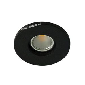 LED spot GU10 COB 3Watt rond ZWART IP65 dimbaar
