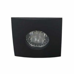 LED spot Calisto GU10 4Watt vierkant ZWART IP65 dimbaar