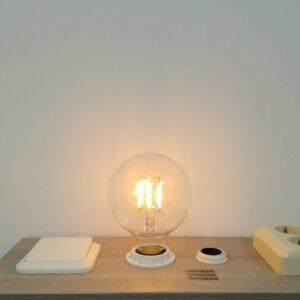 LED filament E27 6Watt dimbaar globe 95mm