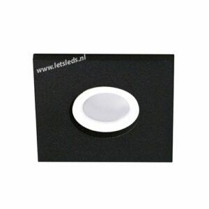 LED lamp armatuur ZWART vierkant IP65 waterdicht