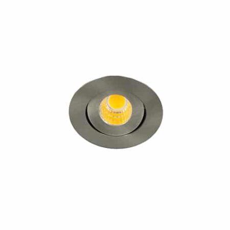 LED mini spot 52mm kantelbaar 3Watt rond NIKKEL IP65 dimbaar