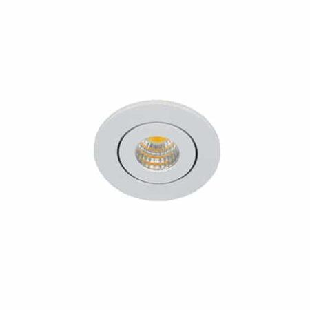 LED mini spot 52mm kantelbaar 3Watt rond WIT IP65 dimbaar