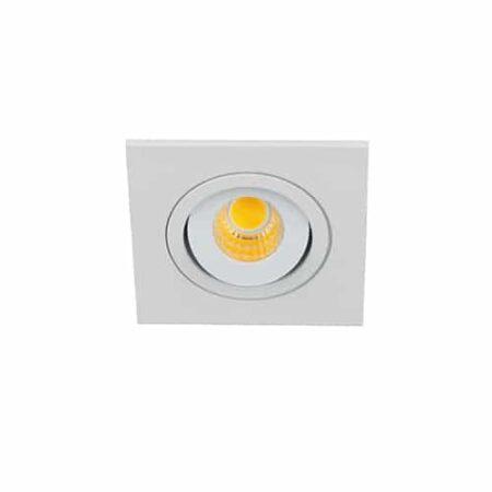 LED mini spot 60x60mm kantelbaar 3Watt vierkant WIT IP65 dimbaar
