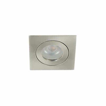 LED mini spot GU10 3,6Watt vierkant NIKKEL IP65 dimbaar