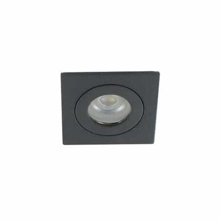 LED mini spot GU10 3,6Watt vierkant ZWART IP65 dimbaar
