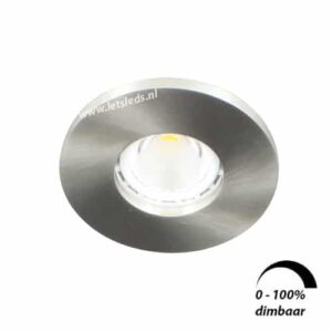 LED spot GU10 6Watt rond NIKKEL IP65 dimbaar