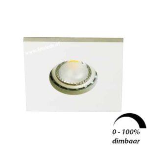 LED spot GU10 6Watt vierkant WIT IP65 dimbaar