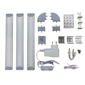 LED opbouw onderbouw lichtbar IP20 3x3Watt 12Volt Dimbaar (set)