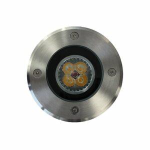 LED grondspot GU10 4Watt rond RVS dimbaar IP65