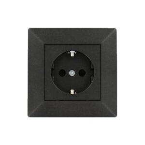 Geaard stopcontact Nero zwart