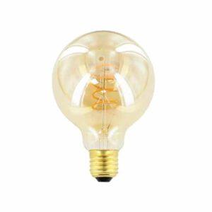 LED kooldraad E27 4Watt dimbaar globe 95mm amber