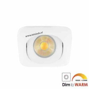 LED spot GU10 7Watt COB vierkant WIT dimbaar