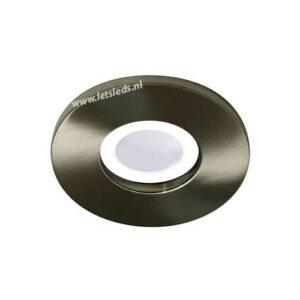 LED lamp armatuur nikkel rond IP65 waterdicht