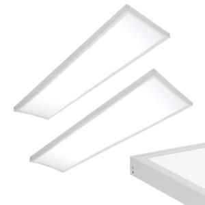 2 stuks LED paneel opbouw 36Watt 1200*300mm helder daglicht