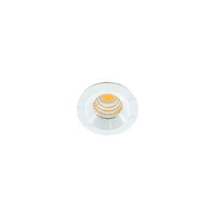 LED mini spot 38mm 3Watt rond WIT dimbaar