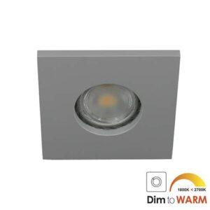 LED spot GU10 7Watt vierkant GRIJS IP65 dimbaar