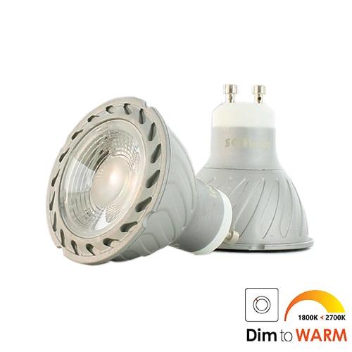 7Watt LED lamp 2 stuks dim to warm