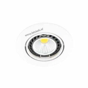 LED spot WIT kantelbaar GU10 COB 5Watt rond dimbaar