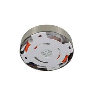 LED plafonniere 9Watt rond NIKKEL 220Volt dimbaar