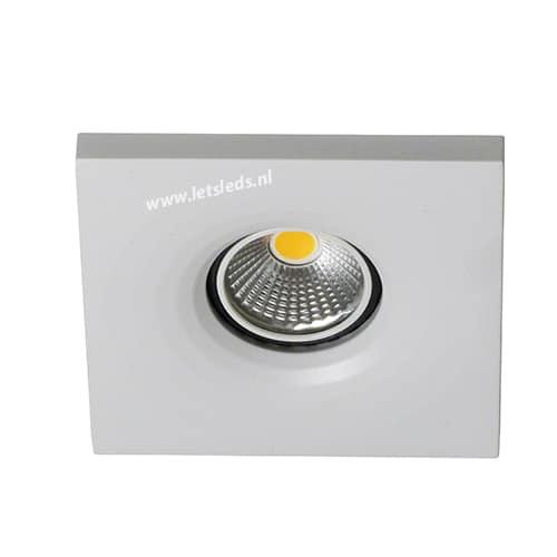 LED spot GU10 COB 5Watt vierkant WIT dimbaar